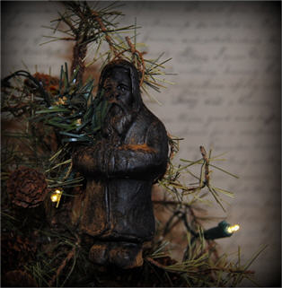 St. Nick With Greenery Ornament-