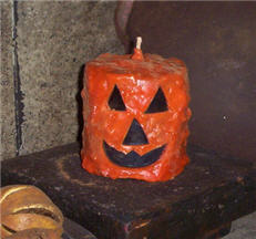 Pumpkin Candle - 3 x 3-