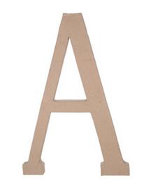 Paper Mache Letter - A - 23.5 inches-