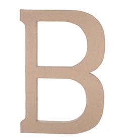 Paper Mache Letter - B - 23.5 inches-