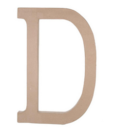 Paper Mache Letter - D - 23.5 inches-