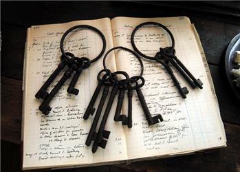 Vintage Style Jailer's Skeleton Keys-