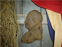 George Washington Beeswax Wall Hanger-George Washington, beeswax