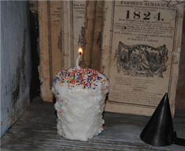 Birthday Cake Votive Candles-