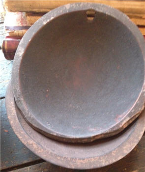 "Bowl - 9"" Hand Hewn Brown over Umber"