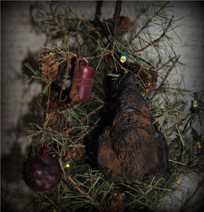 Pomegranate Candle & Olde World St. Nick Ornament-