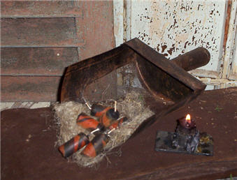 Halloween Candle Cane Nubs - Set/6-