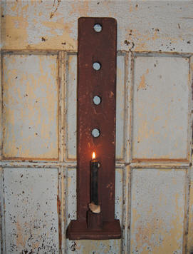 Chippy LONG Barn Red Candle Holder