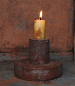 Chippy Blue Long Single Candle Holder