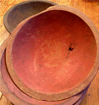 "Bowl - Hand Hewn 9"" - Red"