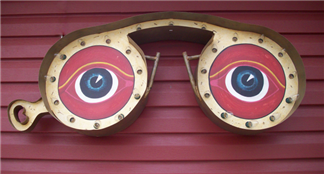 Large Eye Glasses Sign