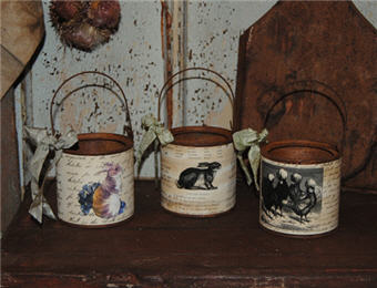 Assorted Farm Pails - SMALL