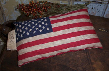Flag Pillow - 1776-flag, american, pillow, buckwheat