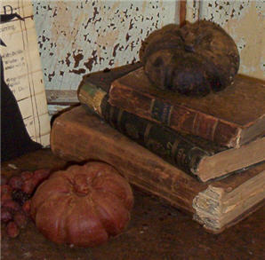 Small Lopsided Primitive Pumpkins-