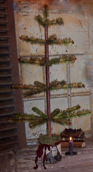 Primitive Feather Christmas Tree