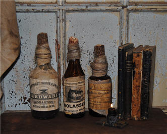 Hardware, Molasses and Mercantile Bottles-
