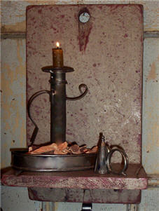 Candle Holder and Pewter Candle Snuffer-