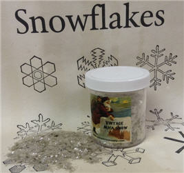 Vintage Style Old World Mica Snowflakes - ONE POUND-