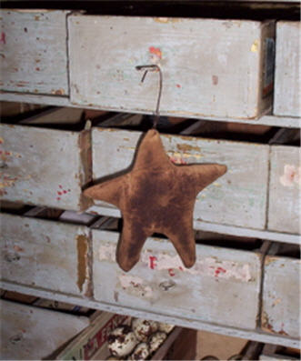 Mini Cloth Star Ornament-star, christmas, americana