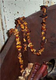 Pumpkin Chunk Garland-pumpkin, chunk, spice, blend, cord, garland