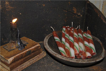 Candle Cane Tapers - Red/Green-candle, taper, candle cane, peppermint, christmas