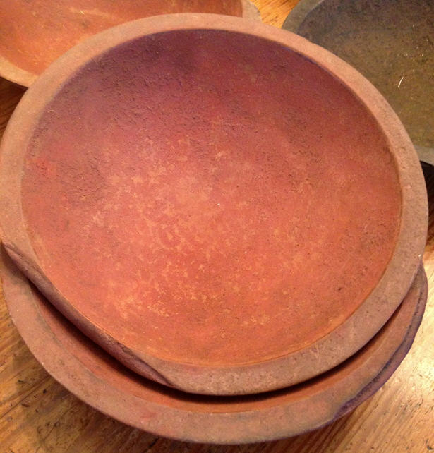 Bowl - Hand Hewn Red - 9""