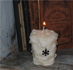 Snowflake Votive Candles-