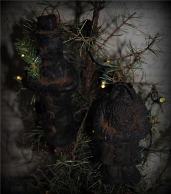Snowman & Santa Ornaments-