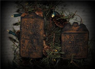 Springerle Hornbook Ornaments