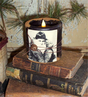 "St. Claus 3"" X 3"" Flicker Bell Candle-"