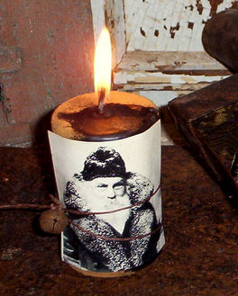 "St. Claus 2"" X 3"" Candle-"