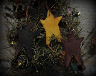 Beeswax Star Ornaments-