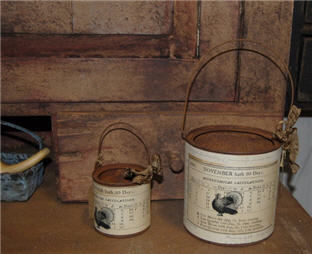Turkey Pails-rusted pail, turkey, thanksgiving