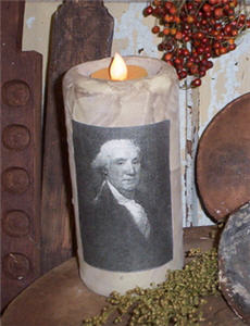 George Washington Tallow Flicker Candle-flicker, washington, george, canfle, tallow