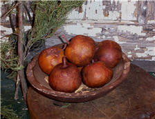 Brick Red  Apple Gourds Set of 6