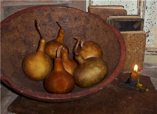 Aurburn Brown Cone Gourds Large