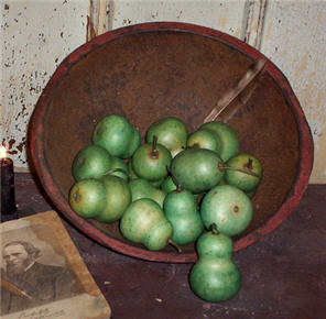 Pear Gourds - Green set/6